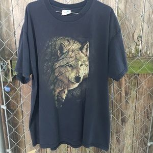 VINTAGE WOLF SHIRT TOP